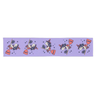 Cute Witch Halloween table runner