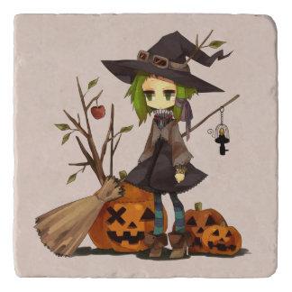 Cute Witch Halloween Trivet