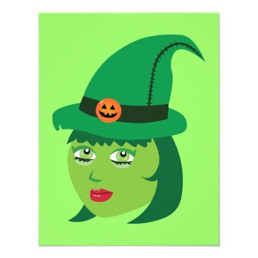 Cute Witch Personalized Invite