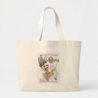 Cute Witch Jack O' Lantern Pumpkin Swing Jumbo Tote Bag