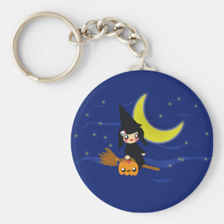 Cute Witch Key Ring