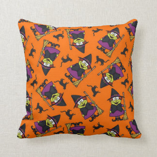 Cute Witch Pattern Throw Pillow