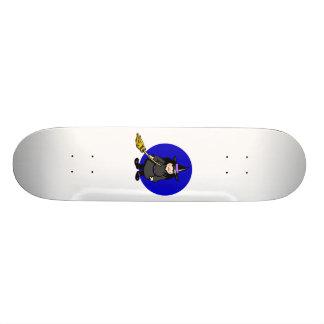 cute witch custom skateboard