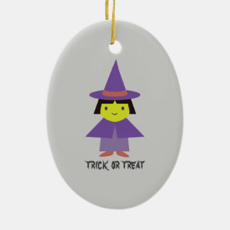 Cute Witch - Trick or Treat Ornaments