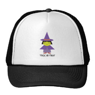 Cute Witch - Trick or Treat Mesh Hat