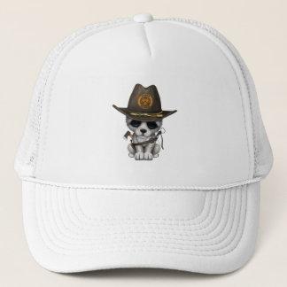Cute Wolf Cub Zombie Hunter Trucker Hat