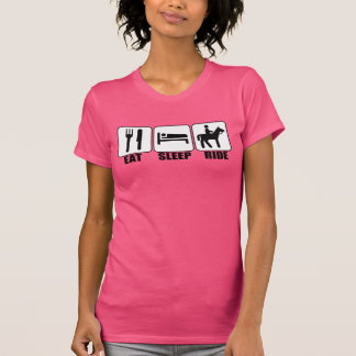 Cute Women's Eat Sleep Ride a Horse Pink Cowgirl T-Shirt