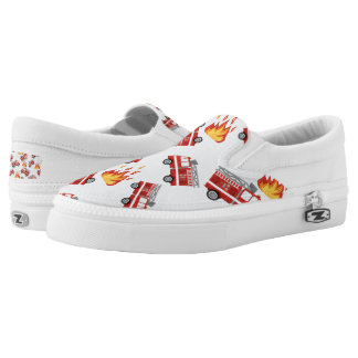 Cute womens fire truck pattern work related shoes