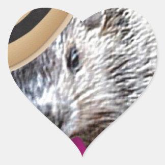 Cute Woodchuck Cartoon! Heart Sticker