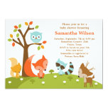 Cute Woodland Animal Invitation 13 Cm X 18 Cm Invitation Card