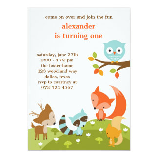 Woodland Invitations Announcements Zazzlecomau