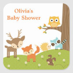 Cute Woodland Animal Stickers Square Stickers