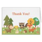Cute Woodland Animal Thank You Card