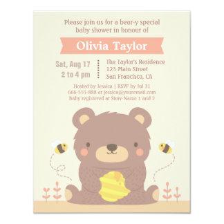 Cute Woodland Bear Baby Shower Invitations