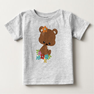 Cute Woodland Bear Cub Baby T-Shirt