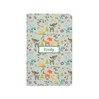 Cute Woodland Creatures Animal Pattern Journals