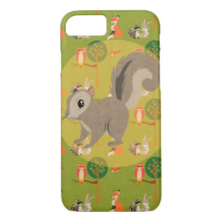Cute Woodland Critter Squirrel iPhone 8/7 Case