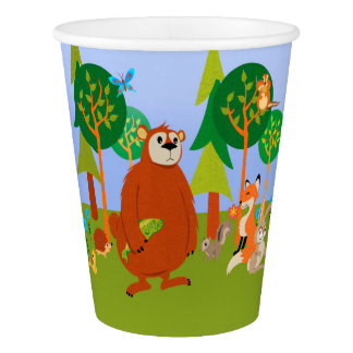 Cute Woodland Critters Paper Cup