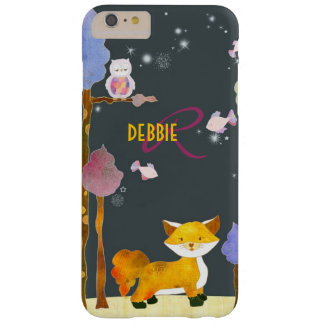 Cute Woodland Fox Monogram Barely There iPhone 6 Plus Case