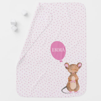 Cute Woodland Mouse Baby Blanket