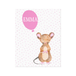 Cute Woodland Mouse Baby / Kids Canvas Canvas Print
