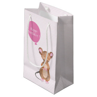 Cute Woodland Mouse | Birthday Gift Bag