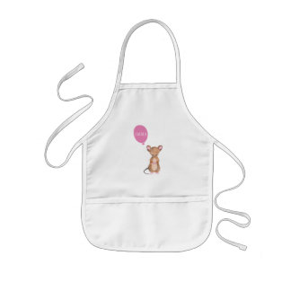 Cute Woodland Mouse Personalized Kids Apron