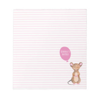 Cute woodland Mouse Personalized Notepad