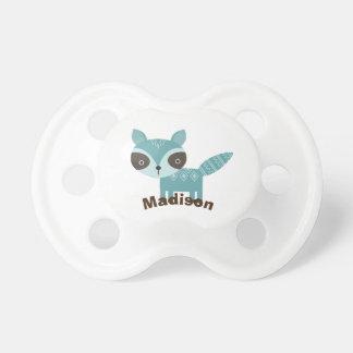 Cute Woodland Racoon Personalised Baby Pacifier