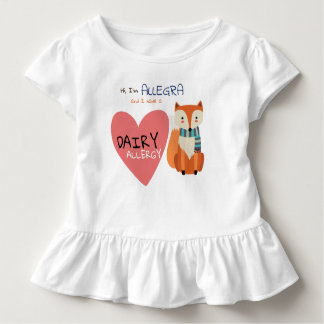 Cute Woodland Winter Animal Fox Kid Allergy Toddler T-Shirt