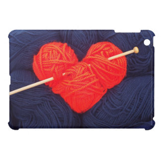 Cute wool heart with knitting needle photograph iPad mini cover