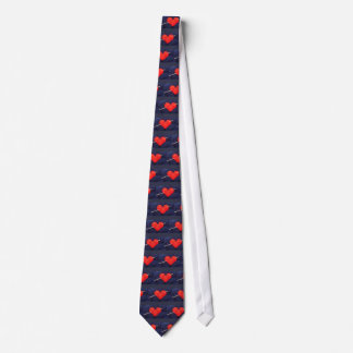 Cute wool heart with knitting needle photograph tie