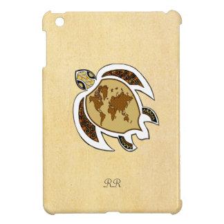 Cute World Map Turtle On iPad Mini Case