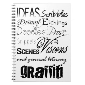 Cute Writing Typography Graffiti Scribbles Notebook