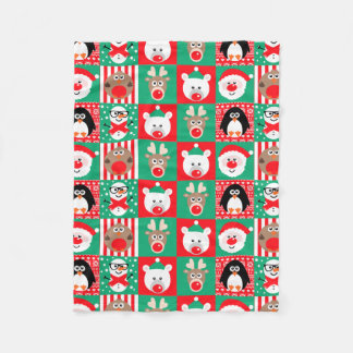 Cute Xmas Christmas Characters Blanket