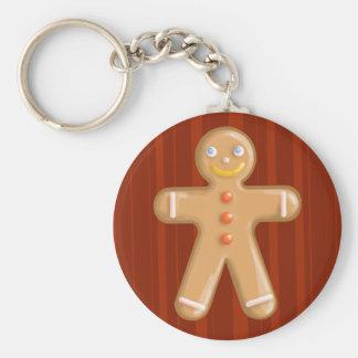 Cute xmas gingerbread man cookie key ring