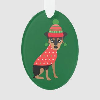 Cute Xmas Min Pin Dog Ornament