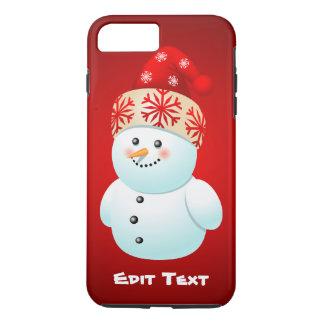 Cute Xmas Snowman Cartoon iPhone 7 Plus Case