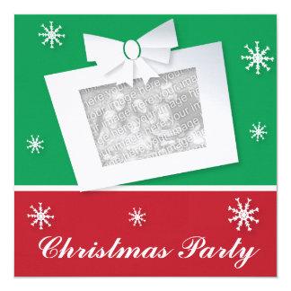 Cute Xmas Snowman on Christmas Bell 13 Cm X 13 Cm Square Invitation Card