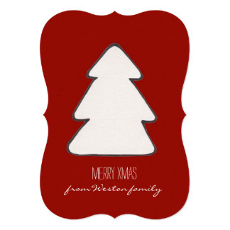 Cute Xmas Tree | Custom Wish 13 Cm X 18 Cm Invitation Card