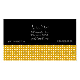Cute Yellow and White Diamond Pattern Business Card