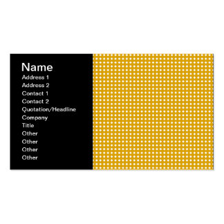 Cute Yellow and White Diamond Pattern Business Card Template