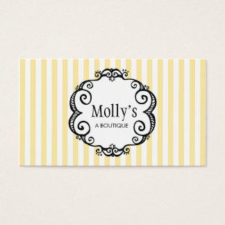 Cute Yellow and White Stripe Fashion Boutique