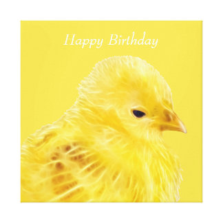 Cute yellow baby Chick Canvas Print