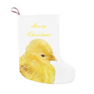 Cute yellow baby Chick Small Christmas Stocking