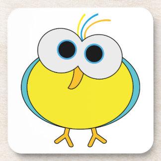 Cute yellow bird animation illustration drink coaster