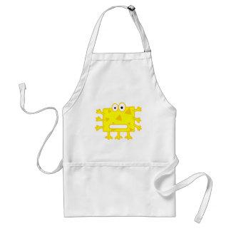 Cute Yellow Cartoon Monster Apron