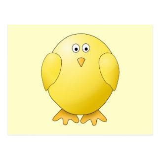 Cute Yellow Chick. Little Bird. Postcard