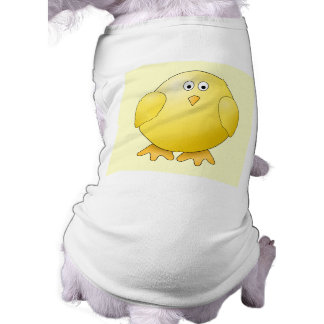 Cute Yellow Chick. Little Bird. Sleeveless Dog Shirt