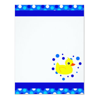 Cute Yellow  Ducky Blue Flat Thank You Note Cards 11 Cm X 14 Cm Invitation Card